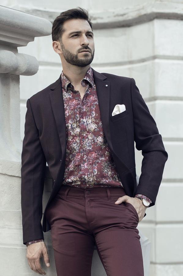 Koszule męskie w kwiaty  repablo.com